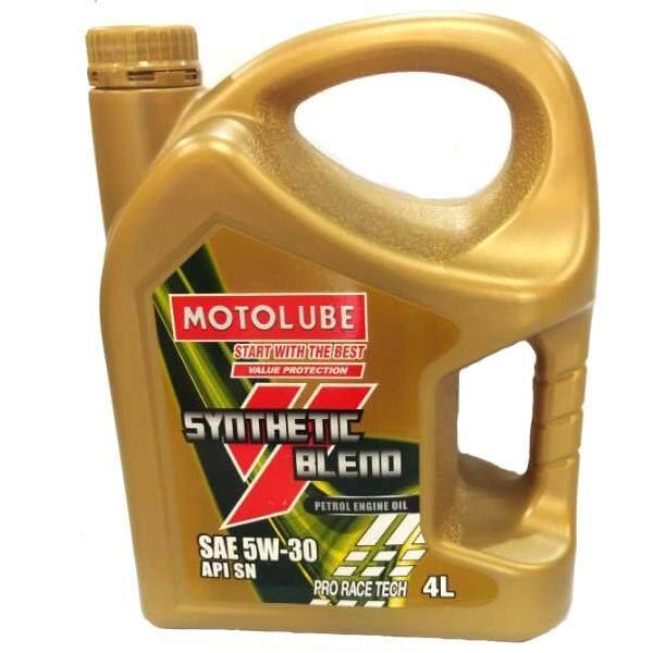 YOKOHAMA MOTOLUBE SAE 5W-30 API SN Synthetic Blend Petrol Engine Oil Pro Race Tech 4L