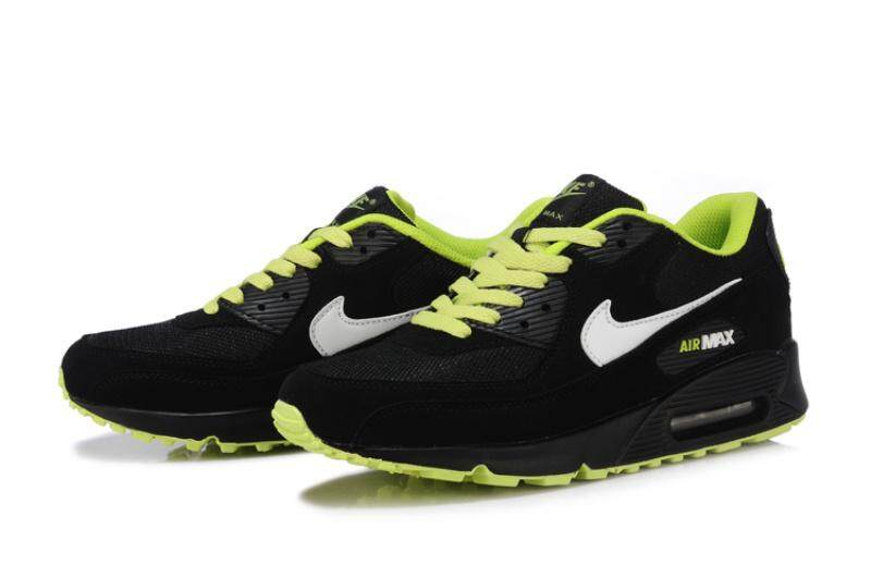 the best attitude f54f8 b0c9d Nike Men s Air Max 90 Running Sneakers Lifestyle Shoe (Black Green)