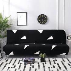 Co giãn Sofa Giường Bao Phủ Toàn Gấp Armless Thun Futon Bọc Ghế Da