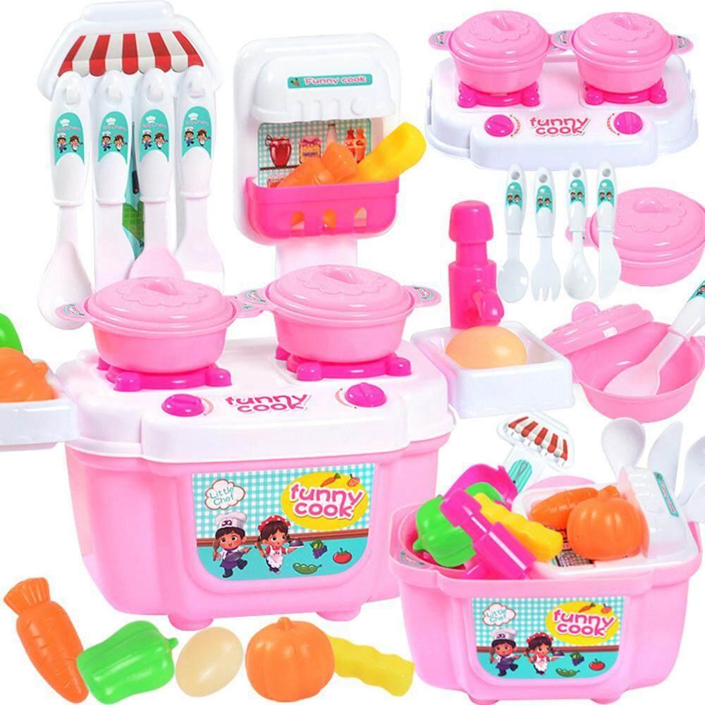 Silynew Lucu Kitchen Playset Dengan Peralatan Set Anak Anak Dapur Main Masak Masakan Peran Set Mainan Bermain Lampu Suara Elektronik Lazada Indonesia