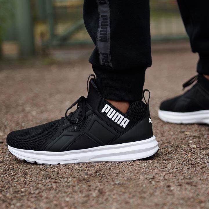 PUMA Mens Enzo Mesh Sneaker, Black US