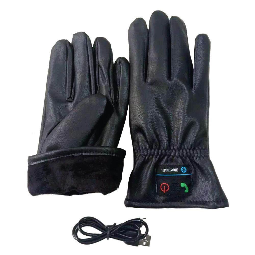 Găng tay Gọi PU Da Tay Găng Tay Sạc Di Động Bluetooth