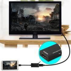 Yika Display Port Micro USB To HDMI Adapter Cable Converter Black 12cm