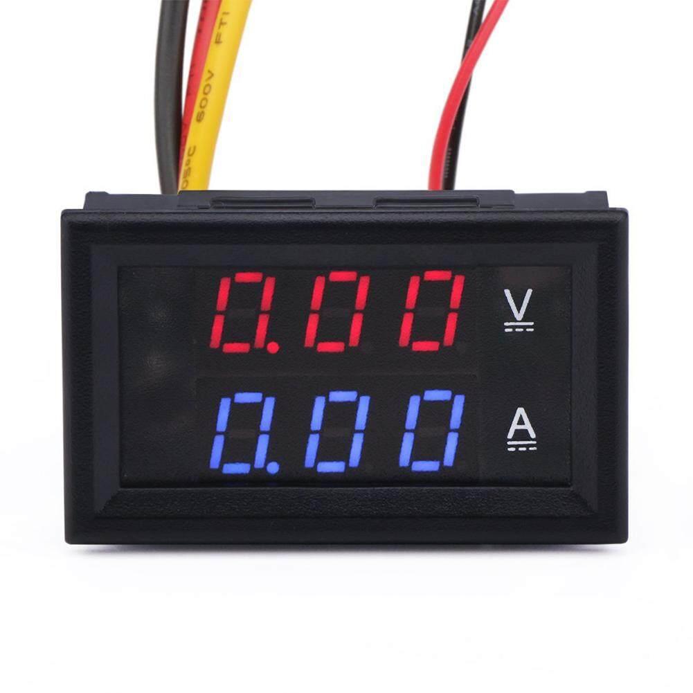 YANYI DC 100V 10A Voltmeter Ammeter Blue + Red LED Dual Digital Volt Amp Meter Gauge