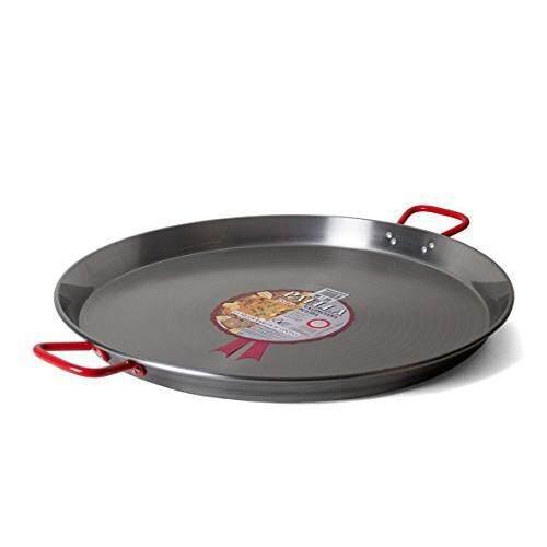 La Paella Garcima 22-Inch Carbon Steel Paella Pan, 55cm