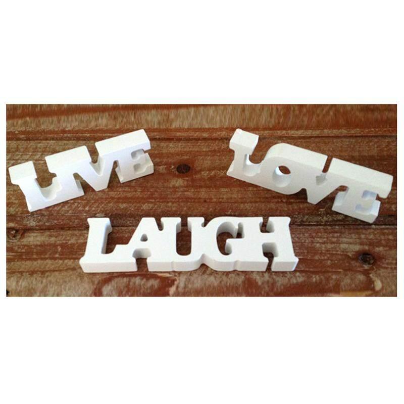 3pcs Live Love Laugh Wooden Letters For Wedding Decoration White