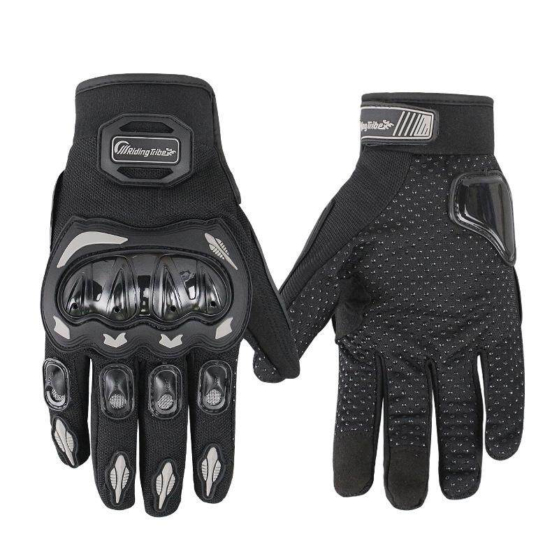 HQ Unisex Motorcycle Gloves Summer Breathable Moto Riding Protective Gear Non-slip Touch Screen Guantes