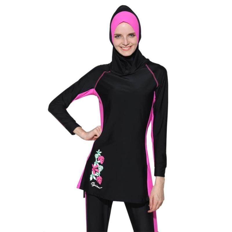 New Women's Print Muslim Swimsuit Conservative Beach Swimsuit