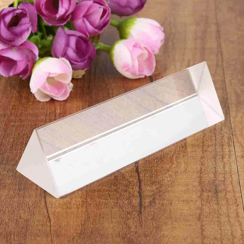 Yuci 100mm Optical Glass Crystal Triple Triangular Prism Photography or teaching phys
