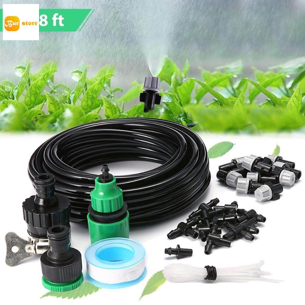 10m Water Misting Cooling Irrigation System Sprinkler with 10pcs Nozzle Garden