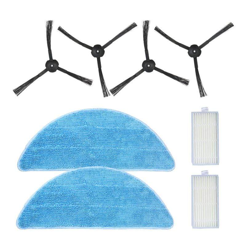 Pack of 8 Replacement Accessories Kit Mops + Side Brushes + HEPA Filters for ILIFE V5S V3S V3 V5 Pro Robotic Vacuum Cleaner Singapore