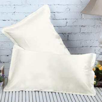 Ivory Silky Soft Charmeuse Silk Pillow Case Beauty Pillowcase Bed Sleep Helper-