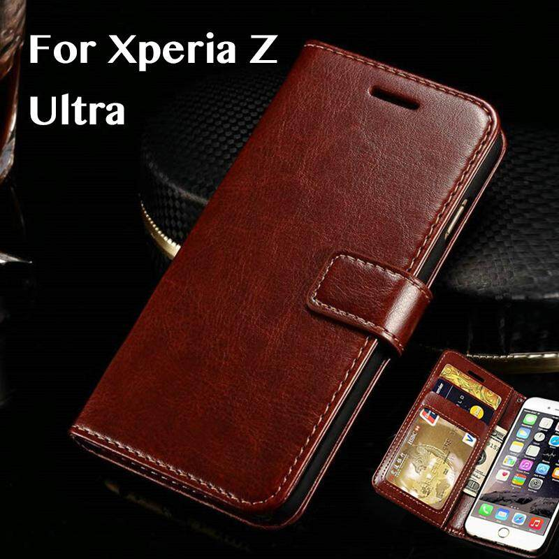 buy popular e1a33 7b0d1 For Sony Xperia Z Ultra Case Cover For Sony Xperia Z Ultra Business Case  For Sony Xperia Z Ultra Luxury Vintage PU Leather Leather Cover