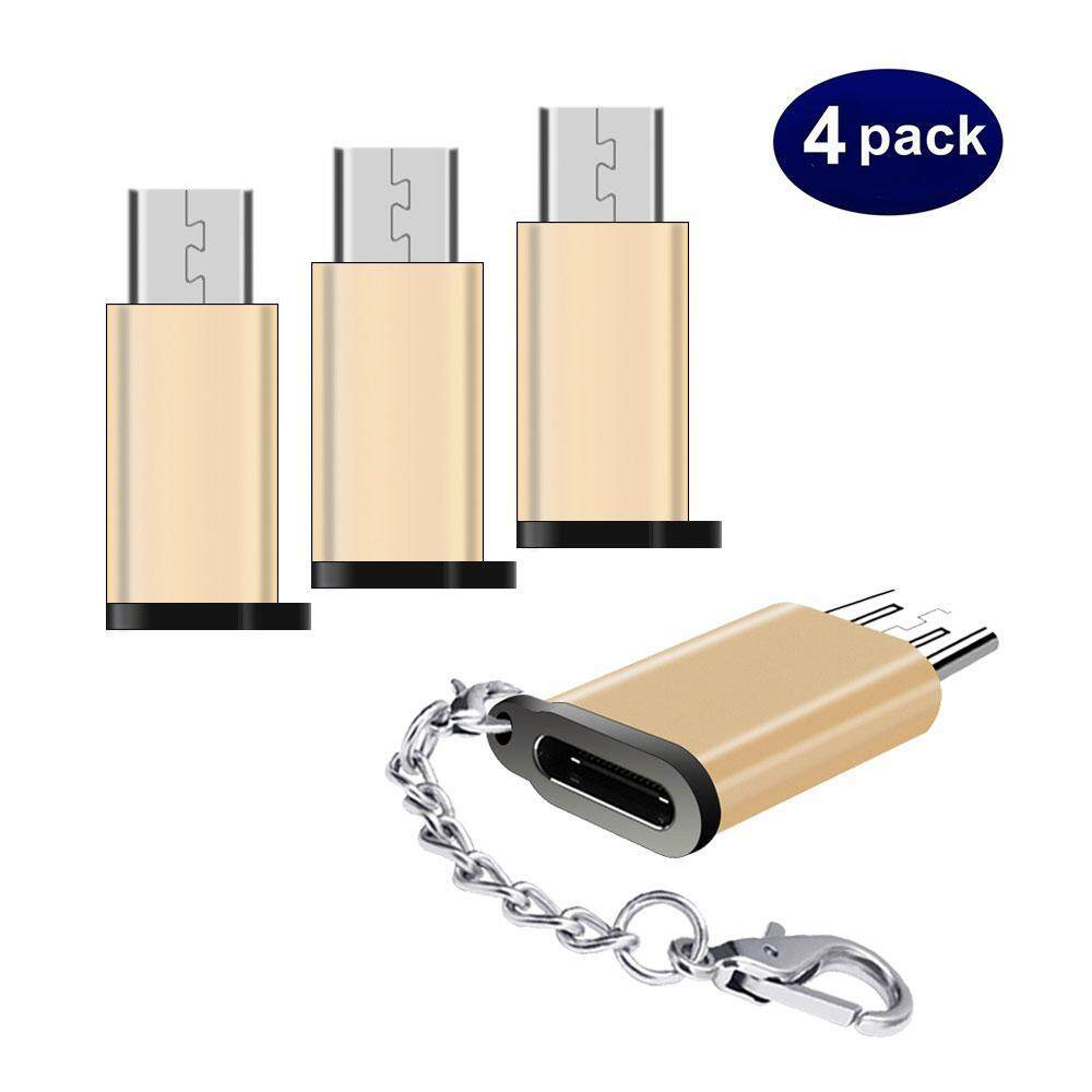 Computer & Office Type C Male To Micro Usb Female Data Sync Charge Converter Adapter With Keychain