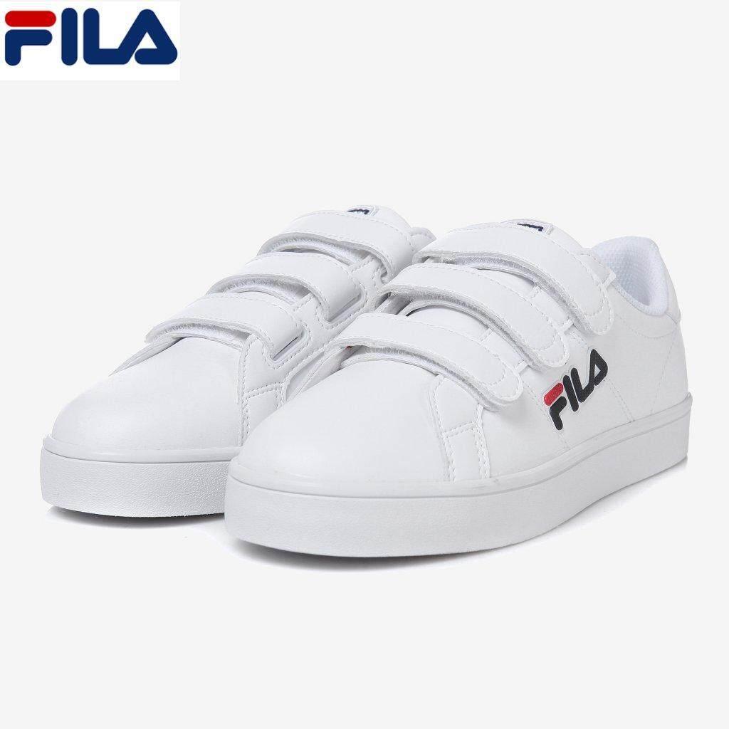 fila white velcro strap