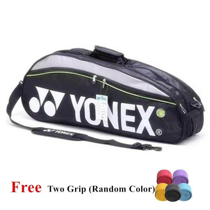 Yonex 9332 Badminton Bag Double Zips Bag with Shoes Compartment + 2 Main Packets 2 Main Packets 2 Sides Pockets + 1 Sling Straps