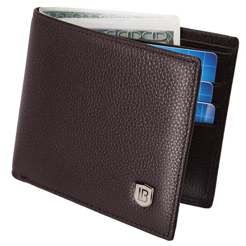 4 Color 4 Color Bostanten Cowhide Leather Simple Checkbook Card Holder  Bifold Wallet for Men ( 50111249a6