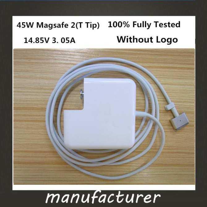 "Baru MagSafe 2 45 W 14.85 V 3.05A Laptop Power Adaptor Pengisi Baterai untuk Apple MacBook Air 11 ""13"" A1465 A1436 a1466 A1435"