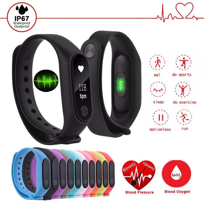 OQTO M2 Original Sport Waterproof Smart Bracelet M2 Wrist Band Smart Watch OLED Fitness Tracker Pedometer for IOS Andriod Phones
