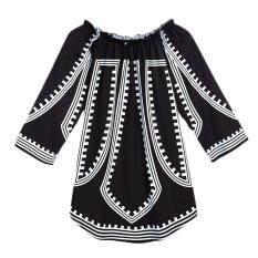 Printed Off Shoulder Casual Mini Dress – intl