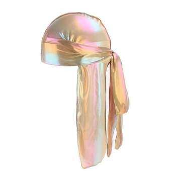 ผู้ชาย/ผู้หญิงผ้าไหมผ้าพันคอโพลีเอสเตอร์หมวก Durag Rag TAIL Headwear Headwrap ของขวัญ-