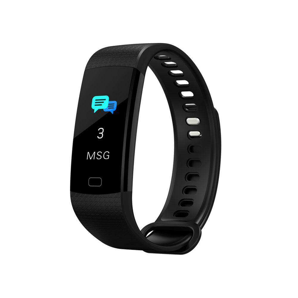 niceEshop 0.96 Inch Color Smart Sports Blood Pressure Heart Rate Bracelet, IP67 Waterproof Fashion Bracelet, Support Portable USB Direct Charge  สายรัดข้อมือเพื่อสุขภาพ อุปกรณ์ไอทีสวมใส่