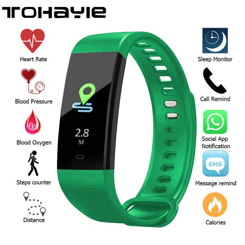d1c9a7f58d TOHAYIE Y5 Waterproof Fitness Tracker 0.96-inch TFT Color Display ...