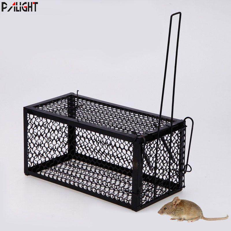 PAlight Single Door Box Mice Cage Rat Trap Rat Rodent Animal Catch Bait Mouse Control Hamster Cages image on snachetto.com