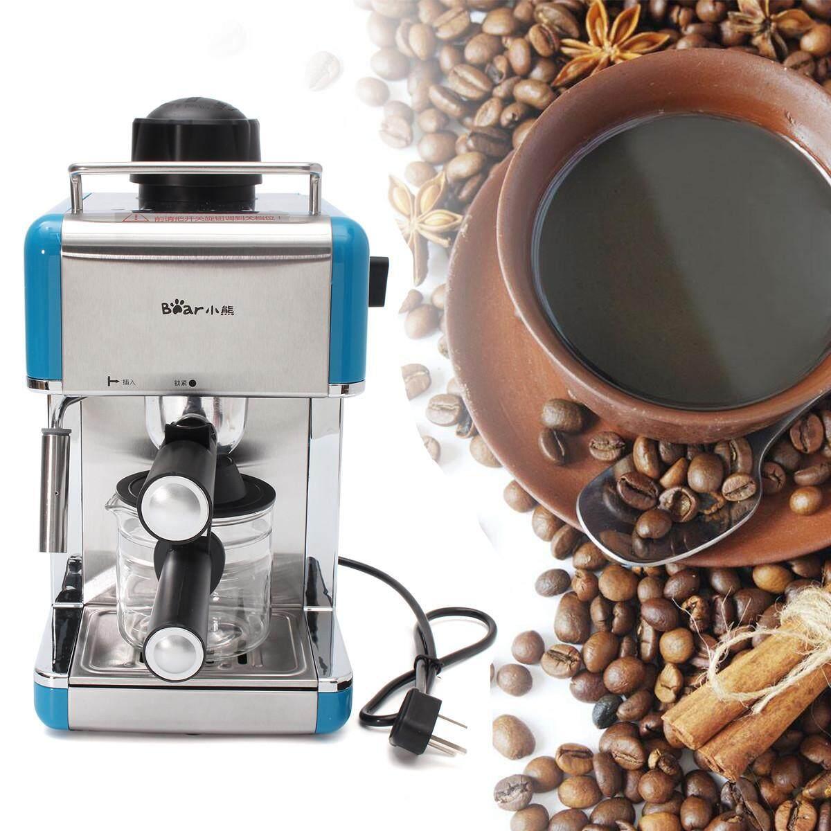 Professional Espresso Cappuccino Latte Coffee Maker Machine Stainless Steel