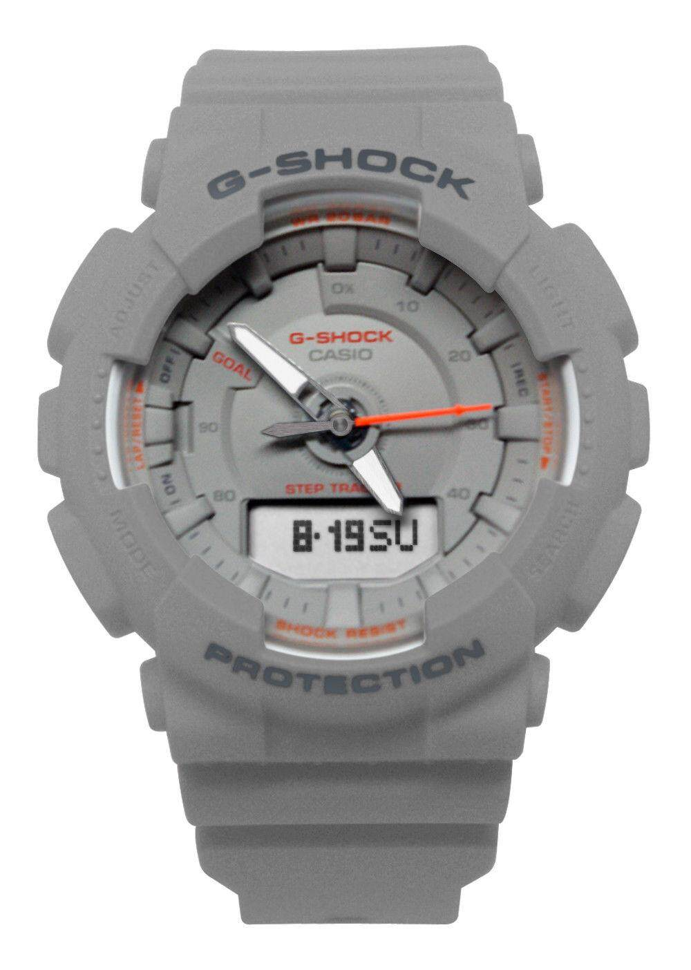 ตาก 【 STOCK】Original _ Casio_G-Shock S-Series GMAS130 Duo W/เวลา 200M กันน้ำกันกระแทกและกันน้ำโลกเครื่องมือวัดจำนวนก้าวกีฬานาฬิกา LED ไฟเปิดปิดอัตโนมัติ Wist นาฬิกากีฬาสำหรับ