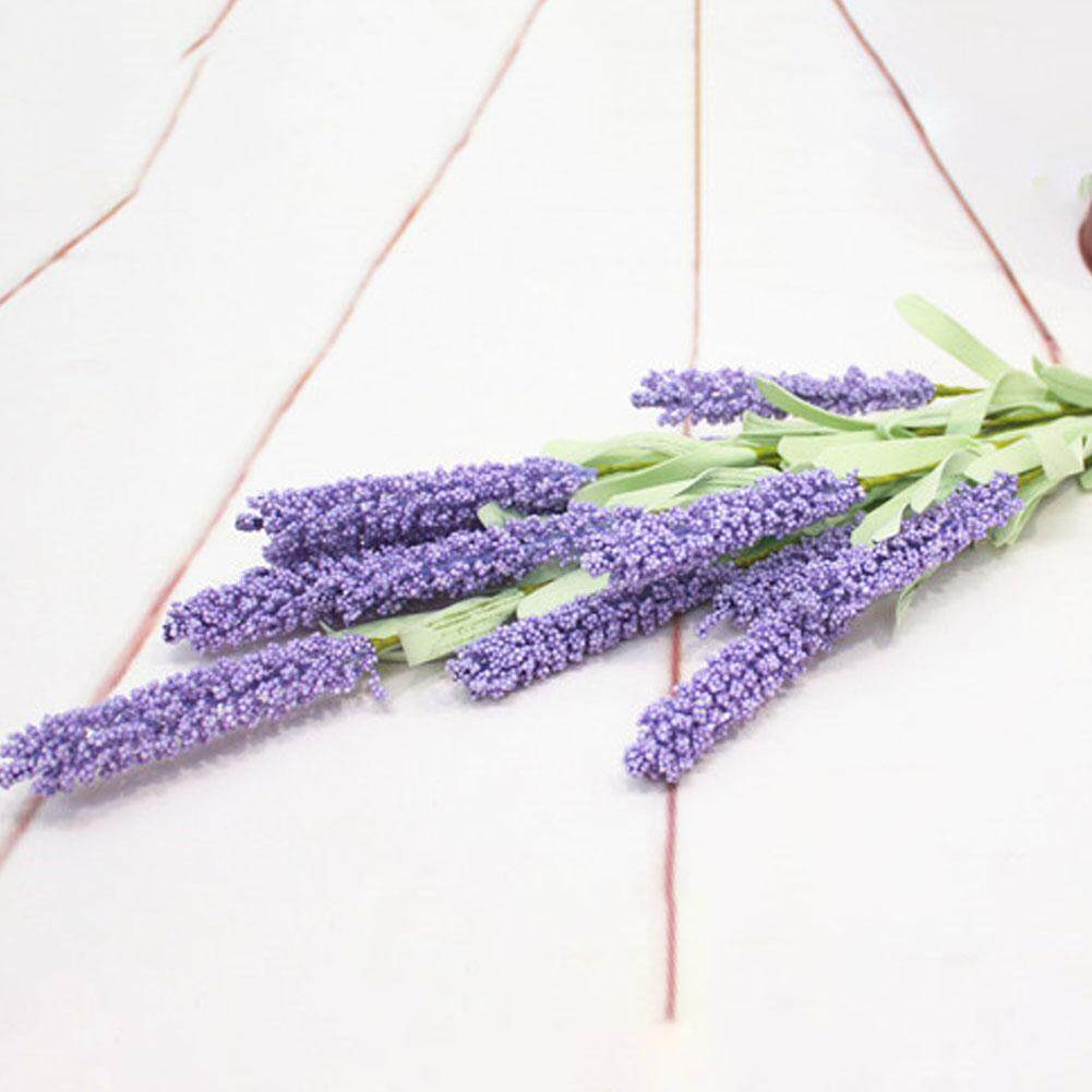Image 5 for Outops จำลองช่อดอกลาเวนเดอร์ดอกไม้ประดิษฐ์ของตกแต่งงานแต่งงานในบ้าน (12 ดอกไม้หัวต่อช่อ)