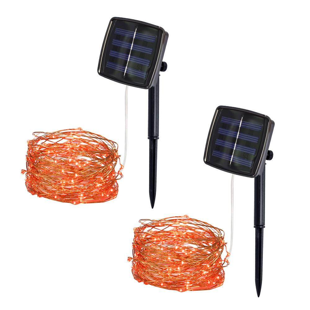 JUN TU SHOP 5M 50 LED Solar Powered Copper Wire Decor high quality String Fairy Light LED for Outdoor Holiday Christmas Halloween Garden Wedding Xmas