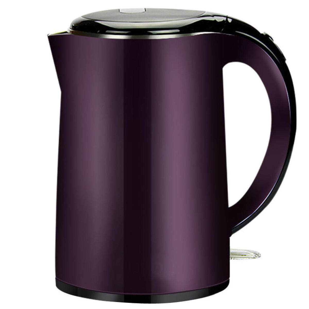 Purple Large Capacity Heat Insulation Seamless Steel Insulation Electric Kettle