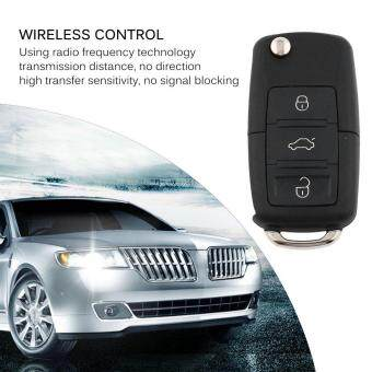 OSMAN Universal 3 Channels Car Remote Control Switch Anti-theft Vehicle Alarm System Black & Silver 0