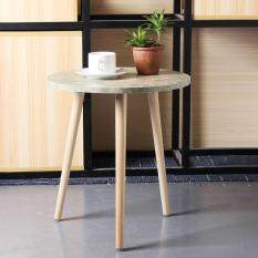 Modern Wood Round Coffee Snack Side End Tea Table Bedside Hallway Furniture – intl
