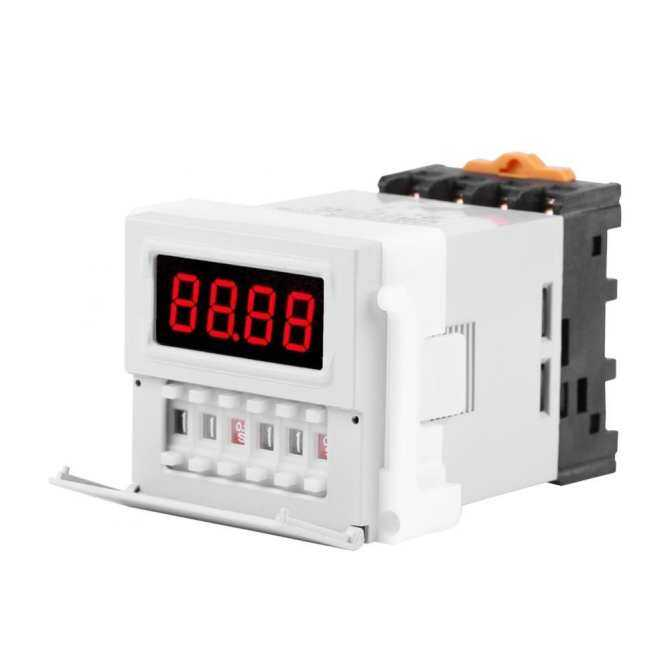 1PC AC/DC 24-240V Digital Cycle Time Timer Switch Delay Relay 0.1S-99H ZYS48-S White Timer