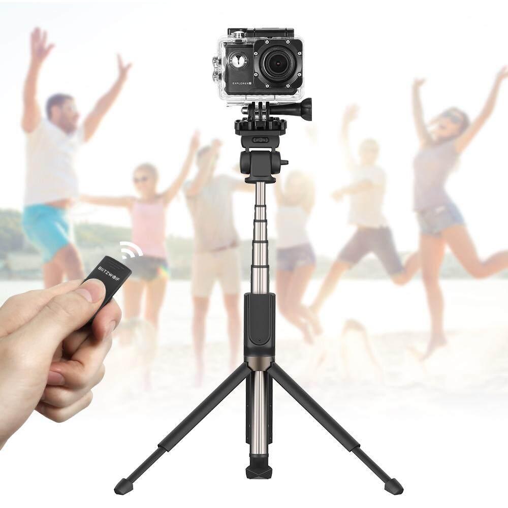 VR3 BW-BS5 Mở Rộng Đa góc bluetooth Tripod Gậy Chụp Hình Selfie Stick cho Điện Thoại Thông Minh Camera Thể Thao