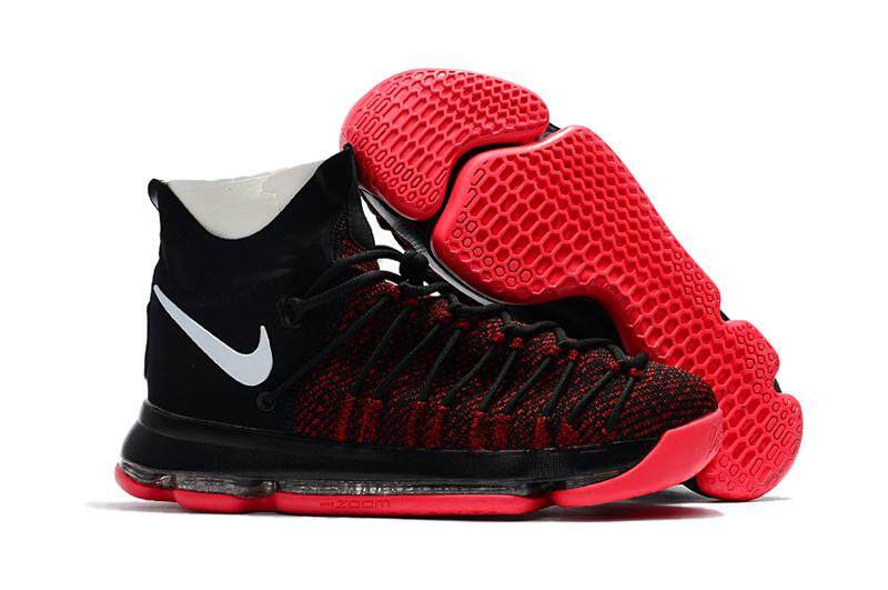 half off ffdff 72541 Nike Zoom KD9 Elite Basketball Shoe Breathable Sneaker (Black Red)
