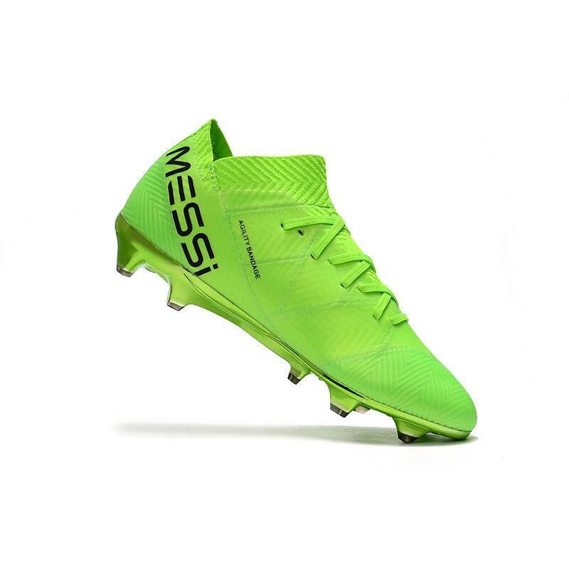 Chương Trình Ưu Đãi cho OriginalNikei/ Football Boots Superfly  Knitted FG Nail Nemeziz Football Shoes Adulto Men's Soccer Shoes Messi 18.1 FG Profissional Futebol Football Shoes Green