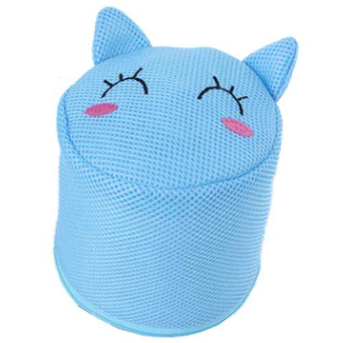 Mesin Cuci Pakaian Dalam Khusus Tas Jaring BH Perlindungan Bra Tas Cuci Silinder Bentuk Kucing-Intl