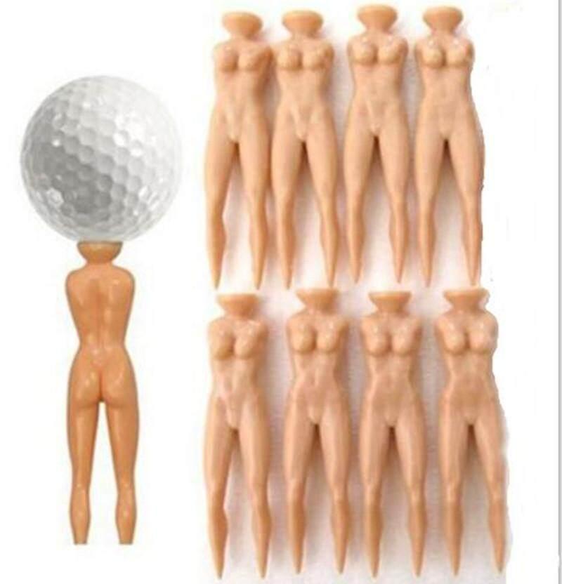 Cq Lelucon Baru Telanjang Wanita Kaus Golf Plastik Latihan Praktik Golf Tees-8 Pcs/tas By Ciqi Trade.