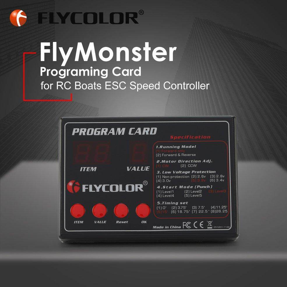 FLYCOLOR FlyMonster Programing Program Card for RC Boats ESC Speed  Controller