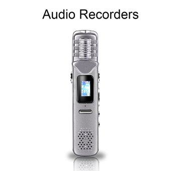 Multifunctional Digital Voice Recorder Rechargeable Dictaphone Stereo Voice Tracer Mp3 Player Perfect For Recording Interviews -Silver
