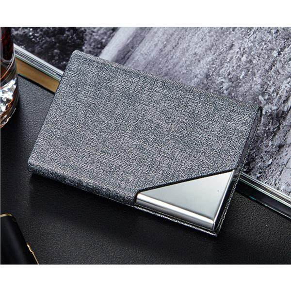 2c947ad23cb0 Card Holder Luxury PU Leather & Stainless Steel Multi Card Case Business  Name Card Holder Wallet Credit Card ID Case/Holder for Men & Women - Keep  ...