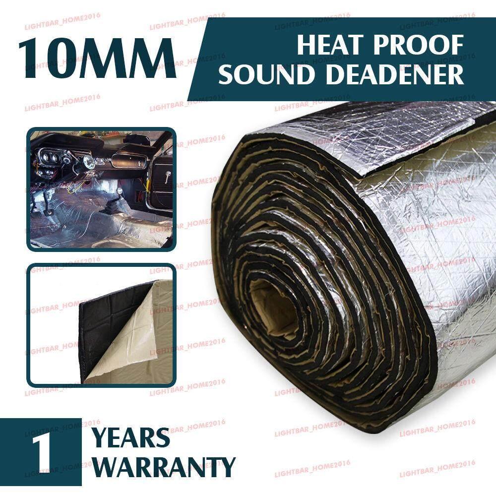 10mm Car Deadener Heat Sound Proofing Insulation Hood Exhaust Muffler 100cmx40cm