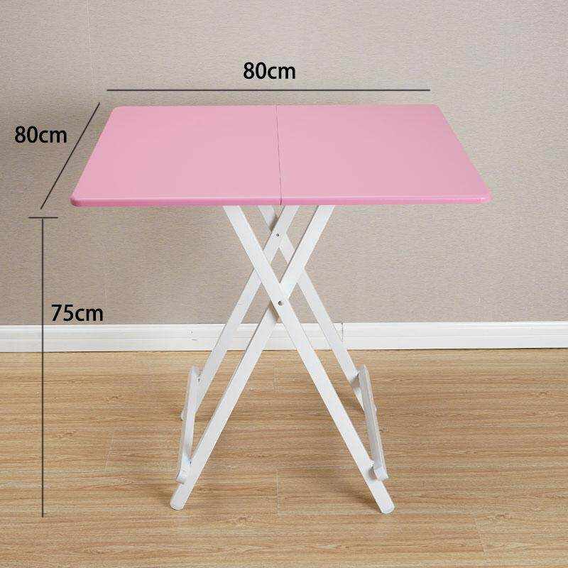 RuYiYu - 80x80x75CM/L W H  Special Simple Foldable Square Dining Table  Snack Table Set Drop-leaf Table  Folding Table  Drop-leaf Table