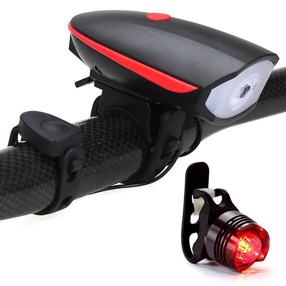 UMION Đèn Pha Xe Đạp Với Còi 120 DB + Đèn Hậu, siêu Sáng Và Chống Thấm Nước ĐÈN LED Xe Đạp Bộ Dễ Dàng Lắp Đặt Đi Đèn Pin An Toàn