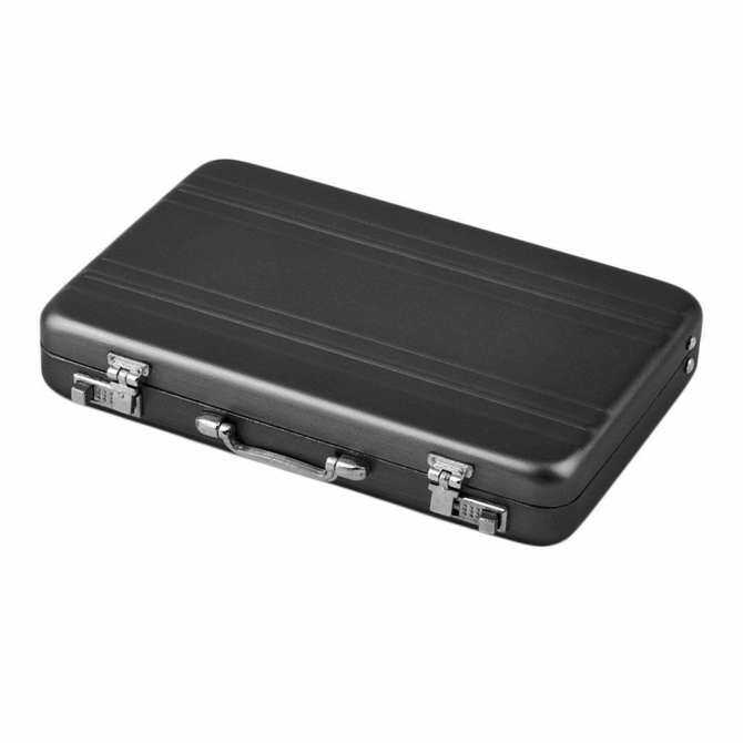 GoSport Cool Aluminum Password Briefcase Business Card Credit Card Holder Case Box