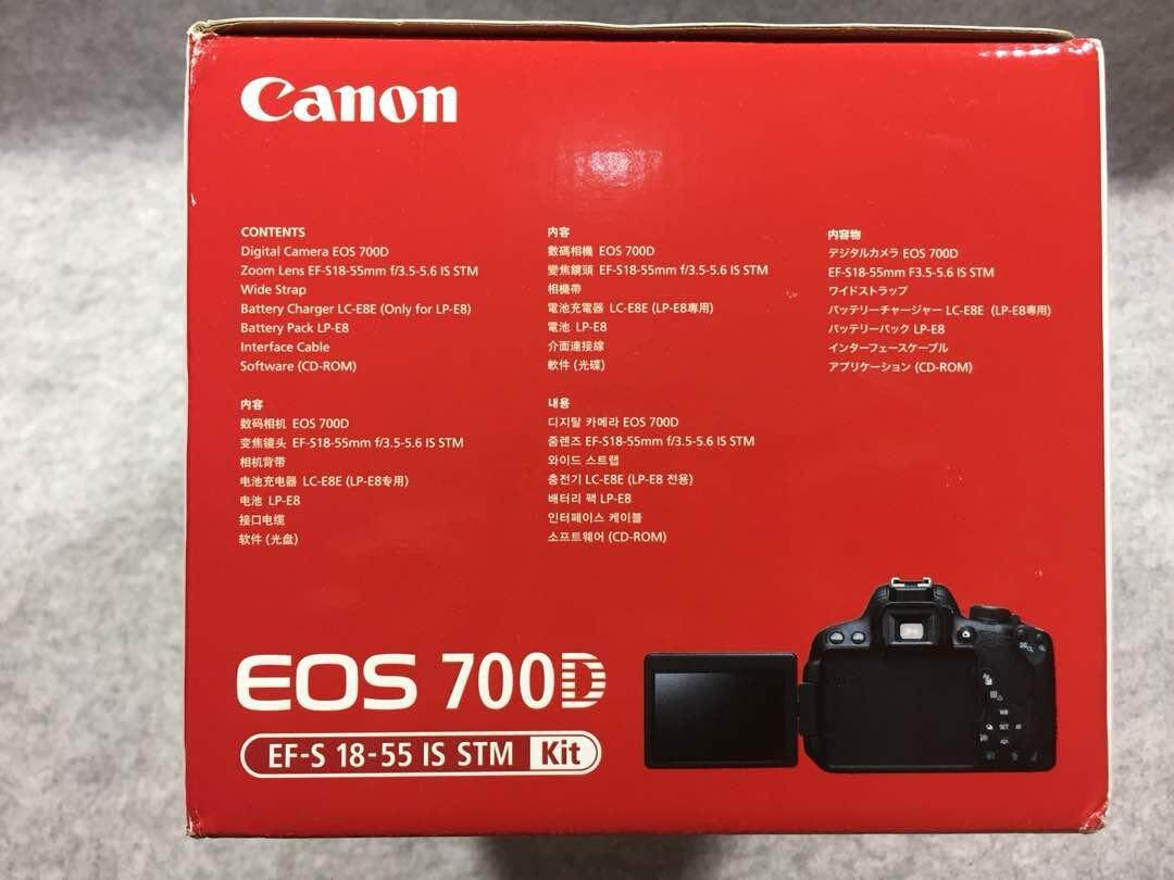 Canon EOS 700D DSLR Camera + 18mm-55mm Lens + Extended Warranty