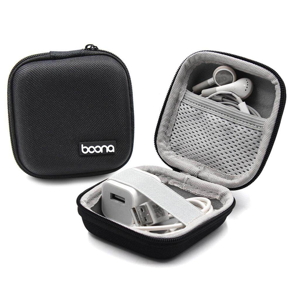 Aolvo Portable Travel Carrying Headphones Case Hard EVA Case Earphone Storage Box USB Cable Organizer - intl